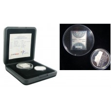13,75 Guilder 2001 Netherlands Last Guilder and Stamp in Silver FB in Original Box with COA